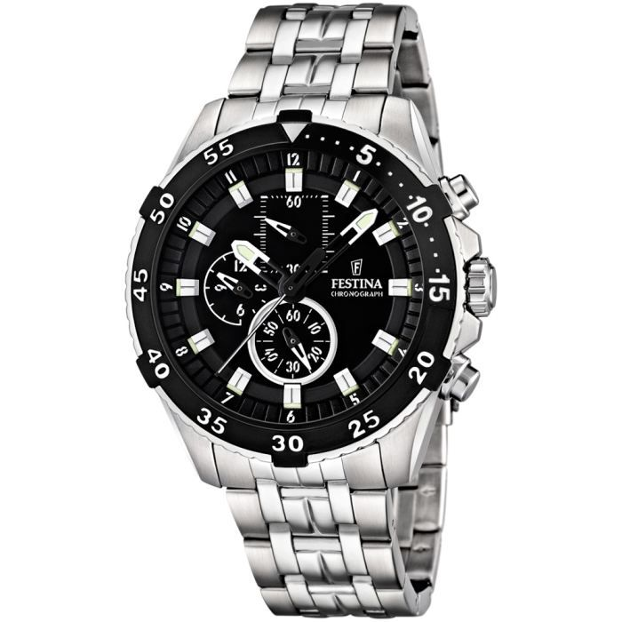 superbe montre homme festina chronometre bracel noir achat vente montre cdiscount. Black Bedroom Furniture Sets. Home Design Ideas