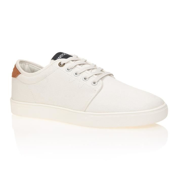 WESC Chaussures Off Deck Low Top - Homme - Blanc OW3CA1MFij