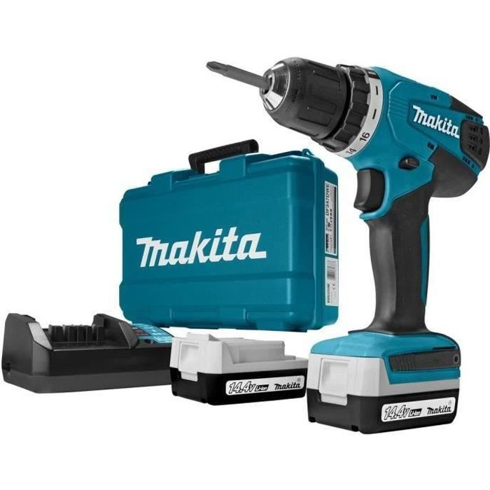 makita perceuse visseuse sans fil df347dwe 14 4 v li ion 1. Black Bedroom Furniture Sets. Home Design Ideas