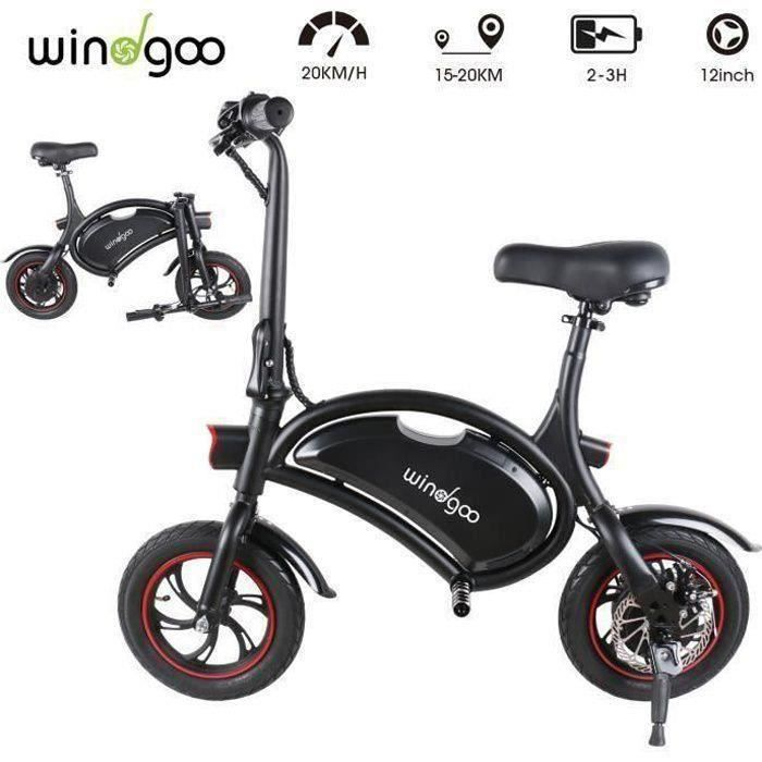 Photo de windgoo-velo-electrique-pliant-12-velo-adulte-vitesse-jusqua-25-km-h
