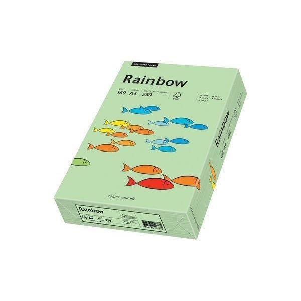 "PAPIER IMPRIMANTE papier universel ""Rainbow"", A4, vert moyen, 160g,"