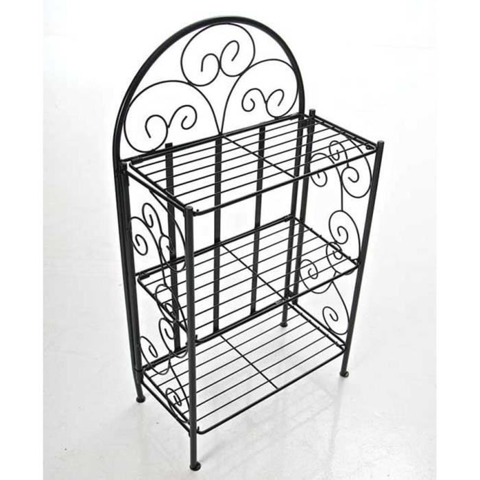 etagere en fer de jardin achat vente etagere en fer de jardin pas cher cdiscount. Black Bedroom Furniture Sets. Home Design Ideas