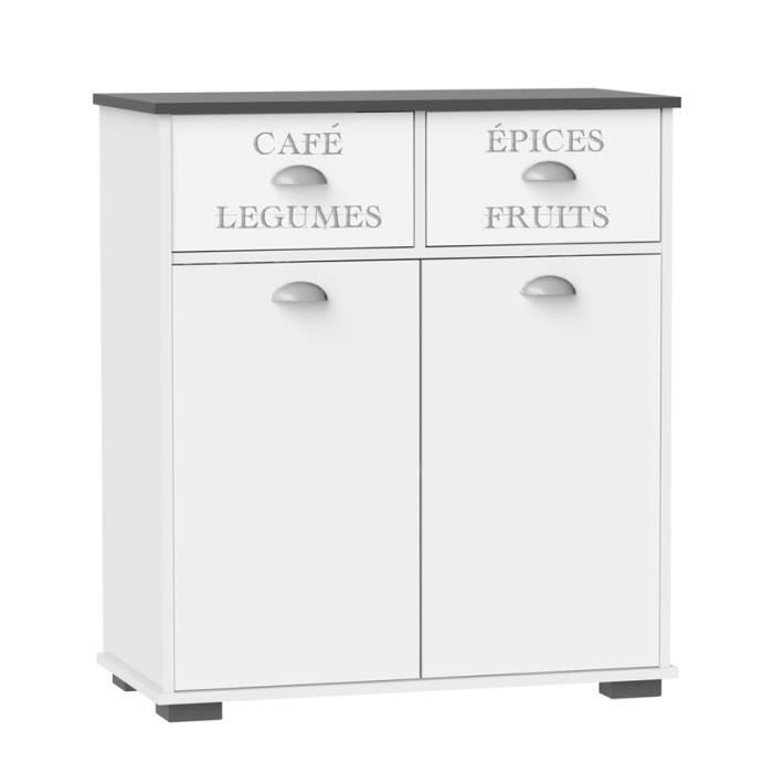elements bas meuble cuisine commode 2 portes 2 tiroirs