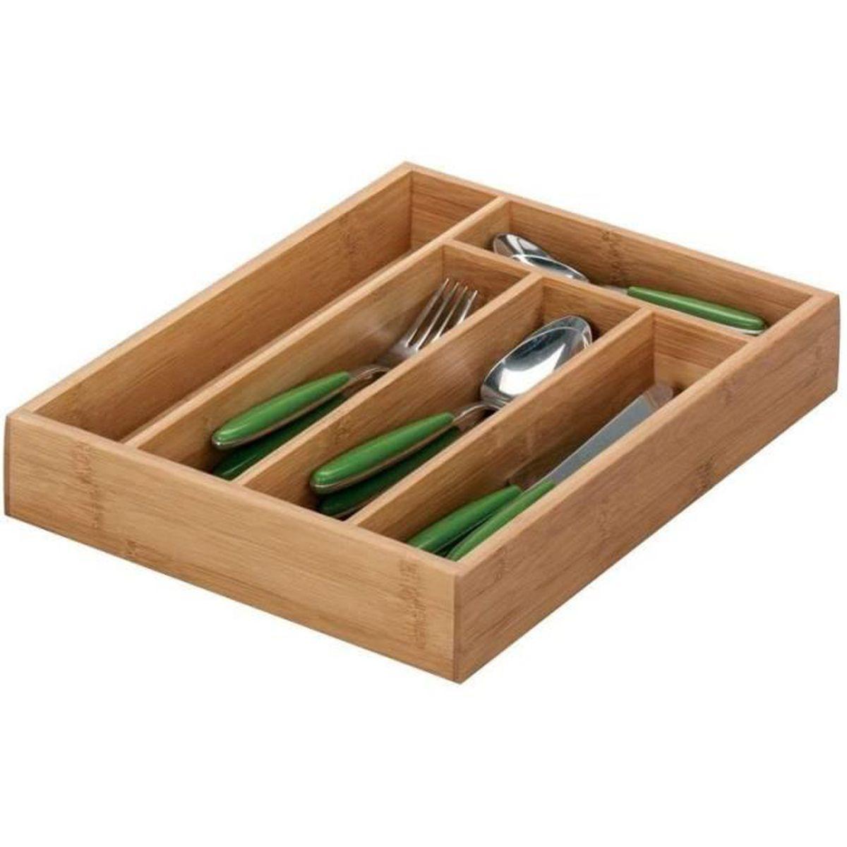 Boite à couvert en bambou – range couverts pour tiroir ...