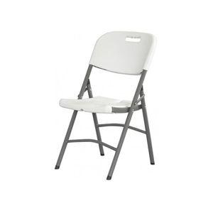 Imperm/éable Rembourr/é Brubaker Milano Chaise de Jardin Pliante Aluminium Gris Argent/é Chaise /à Dossier Haut r/églable en 8 Positions