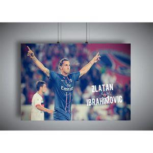 AFFICHE - POSTER Poster Zlatan IBRAHIMOVIC Wall Art PSG - A4 (21x29