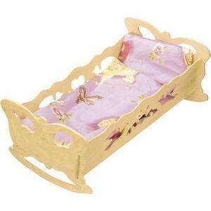 MAISON POUPÉE Lit à bascule en bois pour poupée jouet enfant
