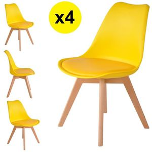chaises jaune achat vente chaises jaune pas cher cdiscount. Black Bedroom Furniture Sets. Home Design Ideas
