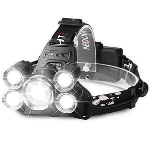 LAMPE FRONTALE MULTISPORT Neolight Lampe Frontale Puissante avec 5 LED,Lampe