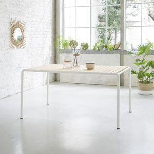 Table de jardin en bois d\'acacia FSC et métal 4 couverts ...