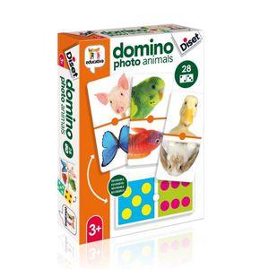 JEU D'APPRENTISSAGE DISET - Domino Photo Animaux