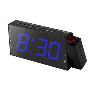 R/éveil avec Station M/ét/éo Thermom/ètre Calendrier Affichage de la Date 7 Couleurs Changeant Snooze LED Projection Horloge Num/érique KKmoon Horloge de Projection Num/érique Reveil Projecteur