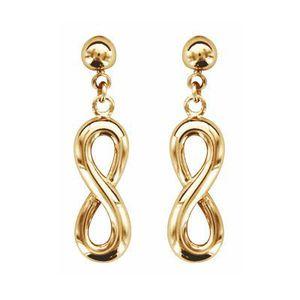 Boucles D/'Oreilles PENDANTES INFINITY Symbol infini ZIRCO ARGENT 925//000 NEUF