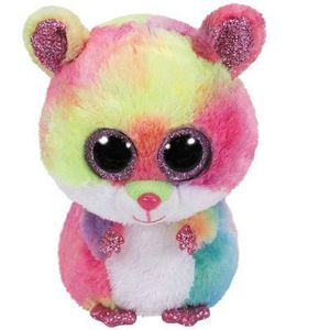 PELUCHE Ty Beanie Boo'S Small-Rodney Le Hamster Peluche, T