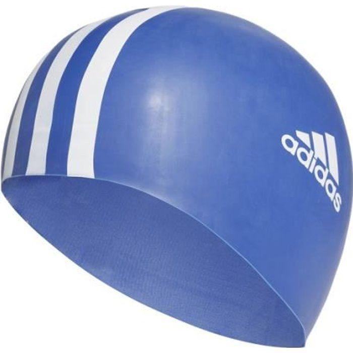 Bonnet de bain bleu homme/femme Adidas silicone