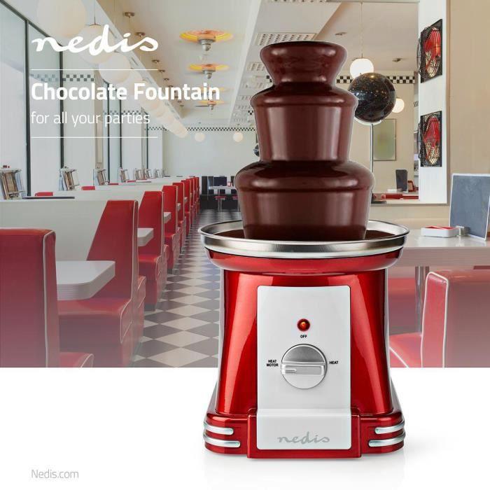 Fontaine à Chocolat 90 W 320 mm Rouge/Blanc Cascade à chocolat 3 étages