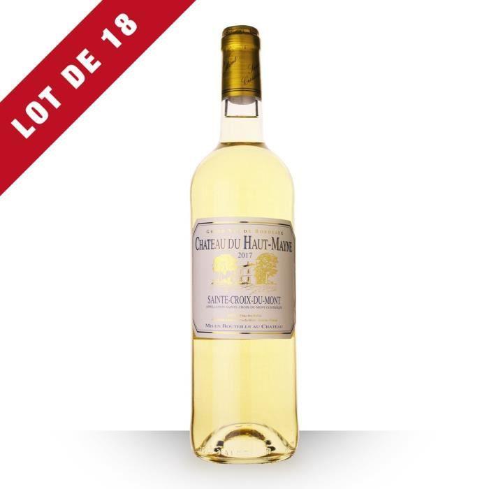 Lot de 18 - Château du Haut-Mayne 2017 AOC Sainte-Croix-du-Mont - 18x75cl - Vin Blanc