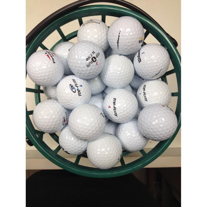 Lot de 100 Balles de golf de récupération Qualité AAA