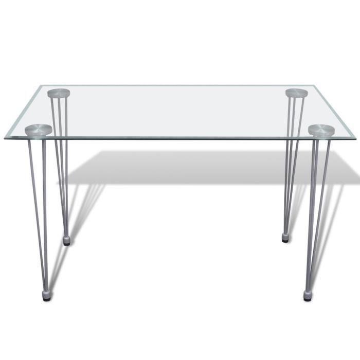 Magnifique Table transparente avec plateau en verre