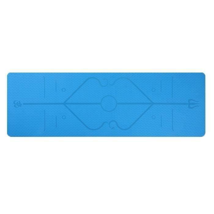 Tapis de yoga bleu insipide multi-fonctionnel épais Tapis de sport insipide multifonctionnel épais tapis de sport en caoutchouc de