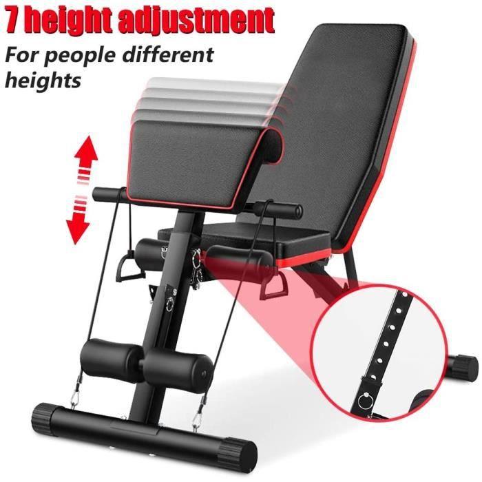 Banc de musculation réglable pour fitness – inclinaison pliable pour entraînement à la maison[165]