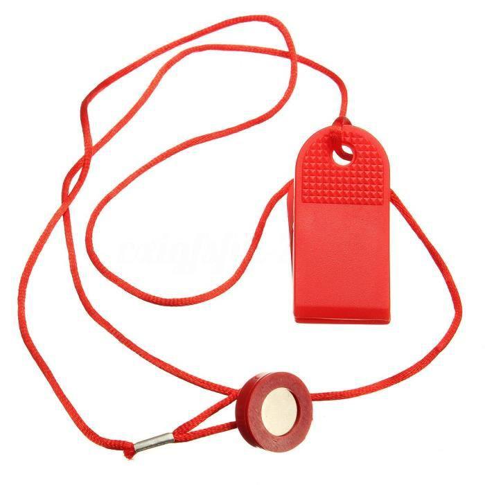 rouge sécurité universelle course Machine clé tapis de course magnétique interrupteur de sécurité serrure