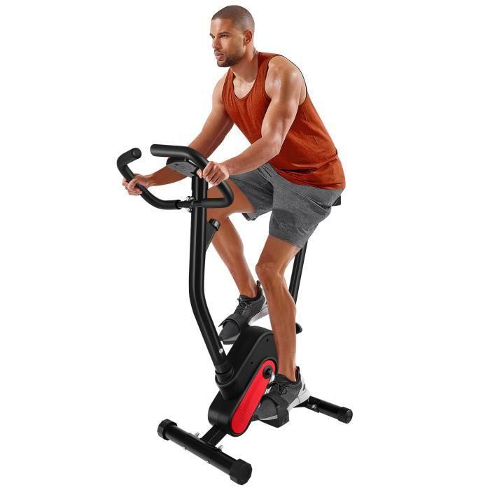 Vélo de spinning à pédales de fitness BESPORTBLE brûle des calories équipement de fitness d'exercice (sangles rouges et noires)