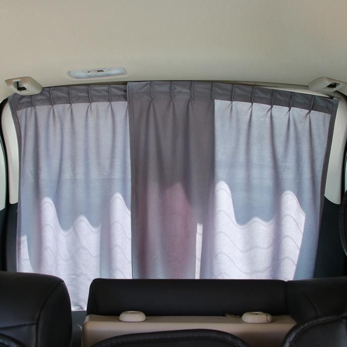 Rideau de fenêtre de voiture de luxe universel, pare-soleil UV, Kit de visière, pare-soleil arrière, accesso Dark Grey