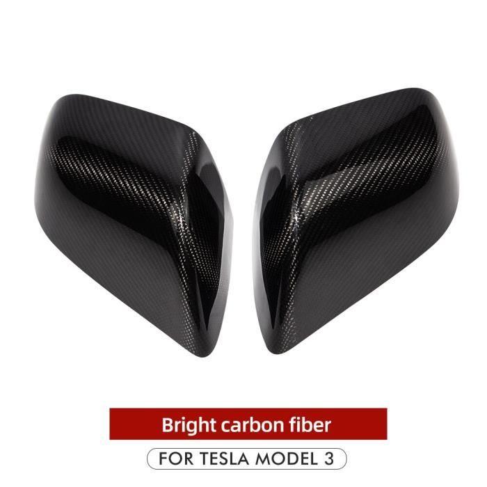 Décoration Véhicule,Heenvn housse de protection rétroviseur en Fiber de carbone mat pour Tesla Model 3 et - Type Glossy Carbon