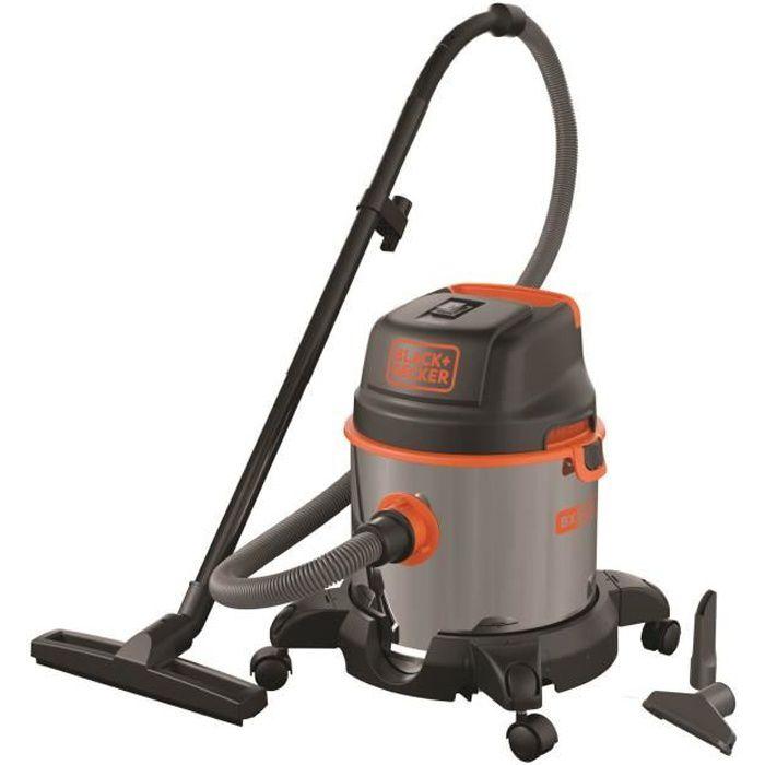 BLACK & DECKER Aspirateur eau et poussière 1400 W cuve en inox 20 L