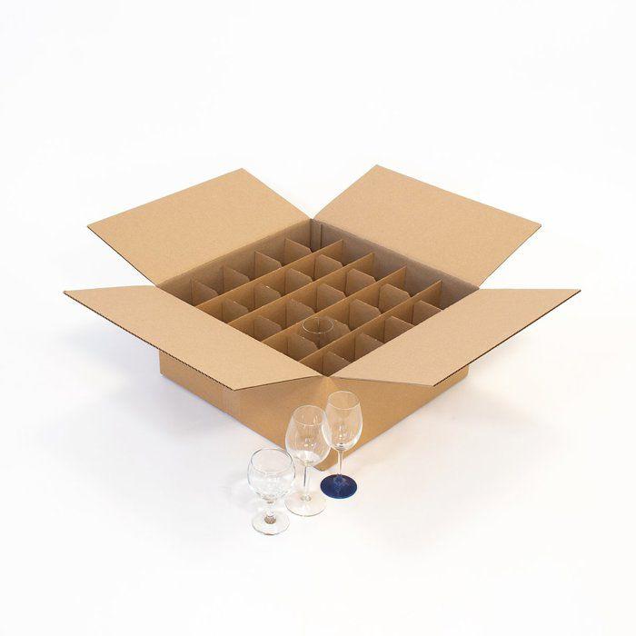 Carton pour 24 verres ou 12 grands verres.