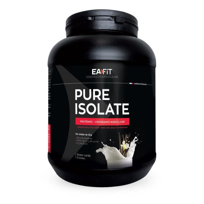 EAFIT Pure isolate vanille 750 g