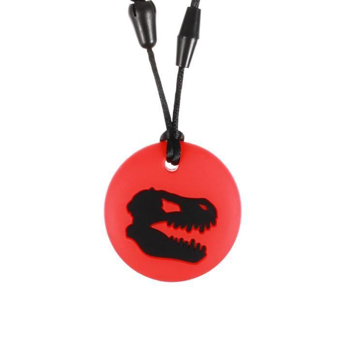 Dragon en forme de silicone collier à mâcher sensoriel enfants mordant bijoux jouet pour l'autisme CASQUE MOTO SCOOTER