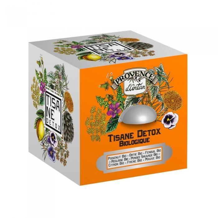 Cube métal Tisane détox bio 24 sachets de 2,5g NEURE Multicolore