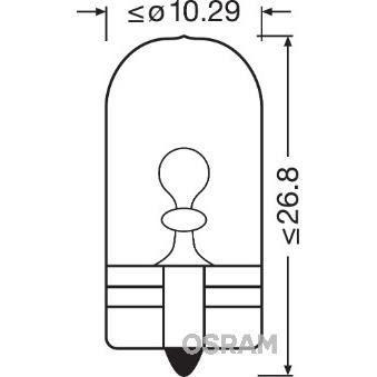 OSRAM Lot de 2 Lampes éclairage de plaque Original W5W