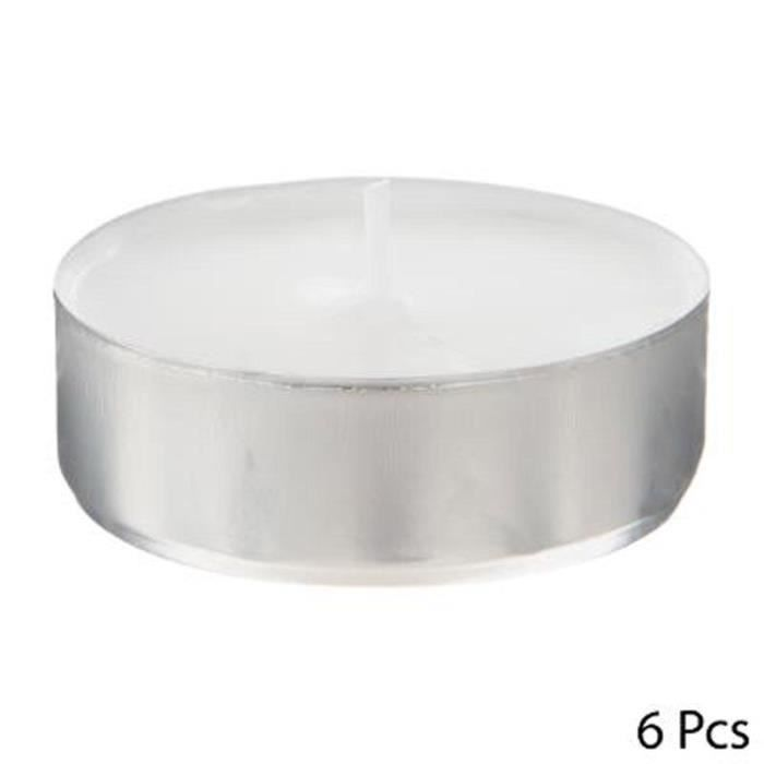 Lot de 6 Bougies Chauffe-Plat -Doxy- 5,8cm Blanc