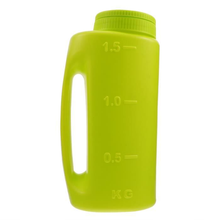 1 pc Durable Multidonctionnel En Plastique Pelouse Engrais Semoir Shaker Graines Épandeur CAFE EN GRAINS