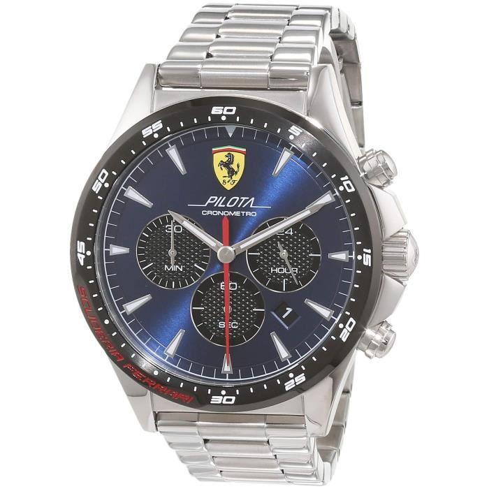 Scuderia Ferrari Hommes Chronographe Quartz Montres bracelet avec bracelet en Acier Inoxydable - 830598