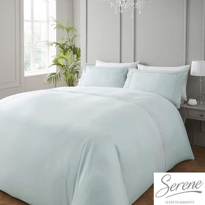 Serene Renaissance-Easy Soin Set Housse de Couette, Polyester-Cotton, Canard Œuf , Simple