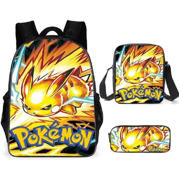 Pokémon Sacs D'école Cool Garçons Filles Anime Elfe Pikachu Sac À Dos Scolaire Enfants Backpack A28