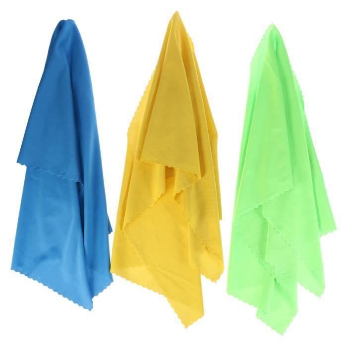 3pcs serviette de refroidissement à froid microfibre à séchage rapide pour la course TAPIS DE SOL - TAPIS DE GYM - TAPIS DE YOGA