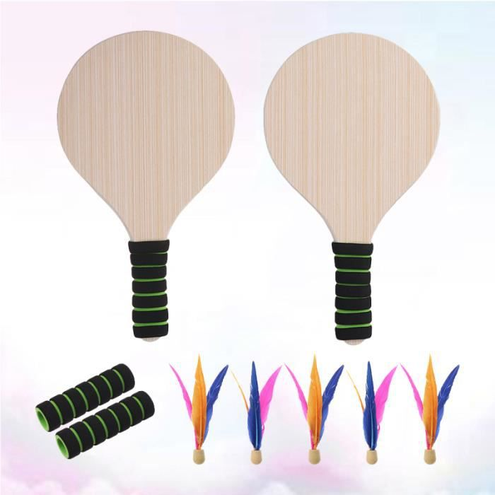 Beach Paddle Game Set Badminton Racket Indoor and Outdoor Battledore For KIT BADMINTON - PACK BADMINTON - ENSEMBLE BADMINTON