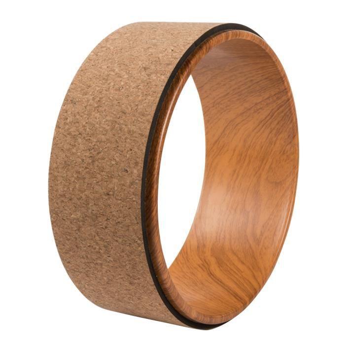 Natural Cork Yoga Wheel Soft Assist Massage Back Bend Art Pilates Circle Roller TAPIS TAPIS DE SOL - TAPIS DE GYM - TAPIS DE YOGA