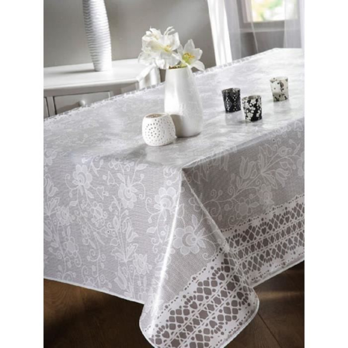 nappe en toile cir e rectangulaire 140x200 cm crochet. Black Bedroom Furniture Sets. Home Design Ideas