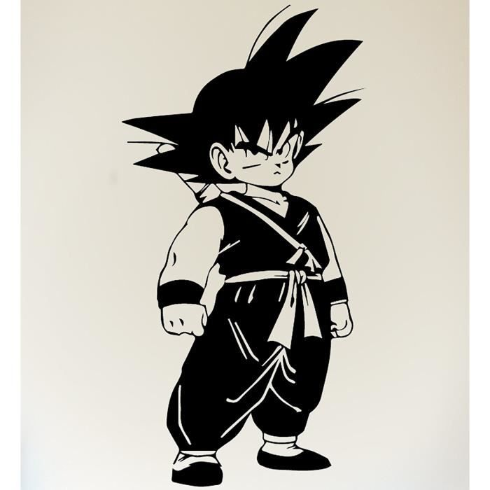 Son Goku Sticker Autocollant Dragon Ball Z Dbz Manga Petit 30x60cm