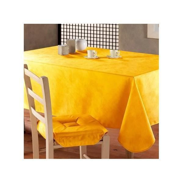 nappe ovale anti tache infroissable uni jaune m achat vente nappe de table cdiscount. Black Bedroom Furniture Sets. Home Design Ideas