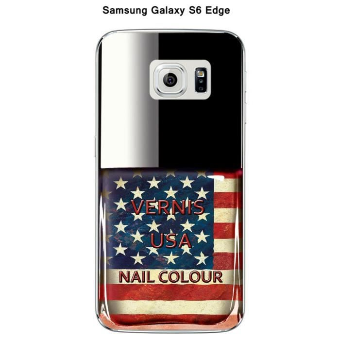 coque samsung galaxy s6 edge vernis usa achat coque. Black Bedroom Furniture Sets. Home Design Ideas