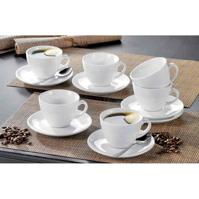 tasses bistro kaffee porcelaine blanche pack 6 achat vente bol mug mazagran cdiscount. Black Bedroom Furniture Sets. Home Design Ideas
