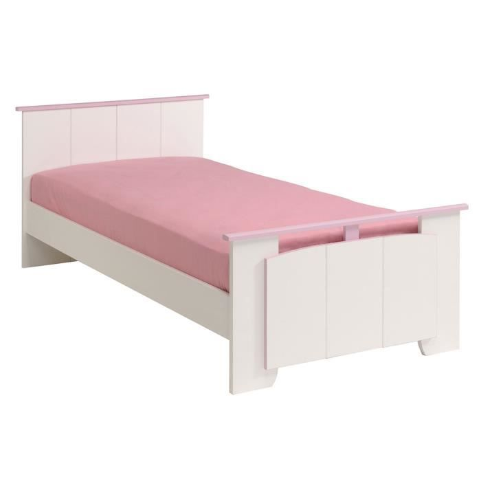 lit enfant 90x190 cm blanc et rose cinderella achat vente lit complet lit enfant 90x190 cm. Black Bedroom Furniture Sets. Home Design Ideas