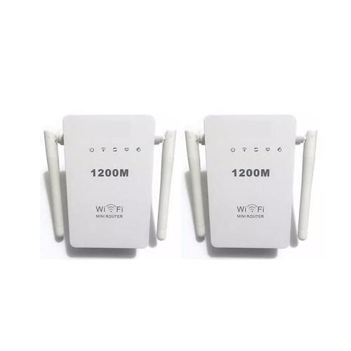POINT D'ACCÈS Pack 2 repeteur wifi 300 mbps Double Antenne 2.4G